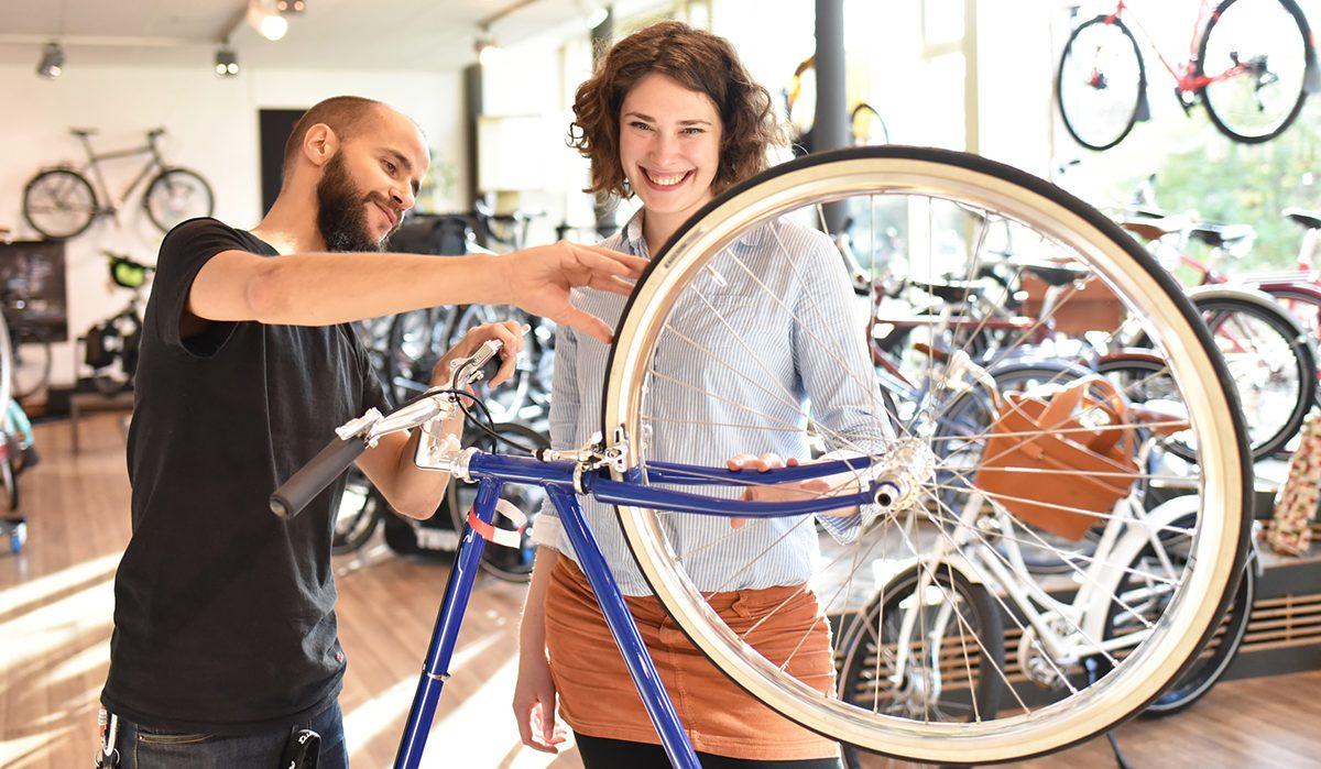 Im Fahrradladen erwartet Sie eine große Auswahl an Marken Fahrrädern